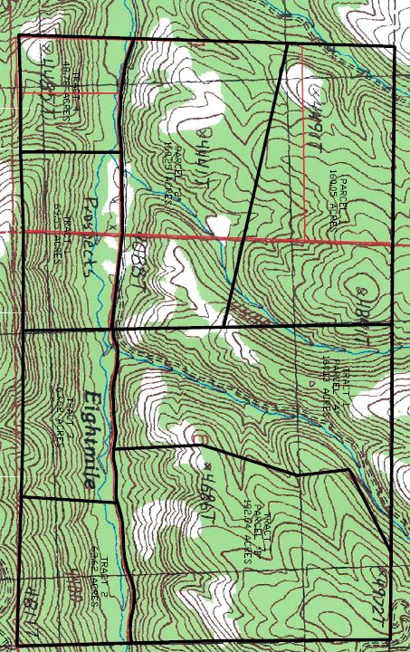 Montana Tracts By Coalson Real Estate Topo Map - Montana topo map